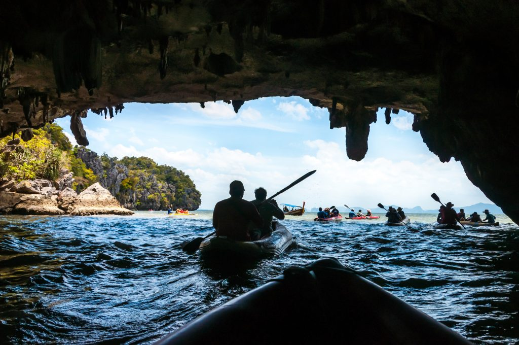 Kanu fahren Phang Nga Bay