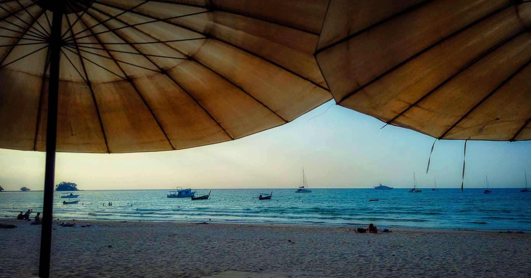 Essen am Strand