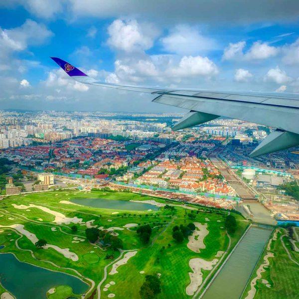Anflug Singapur