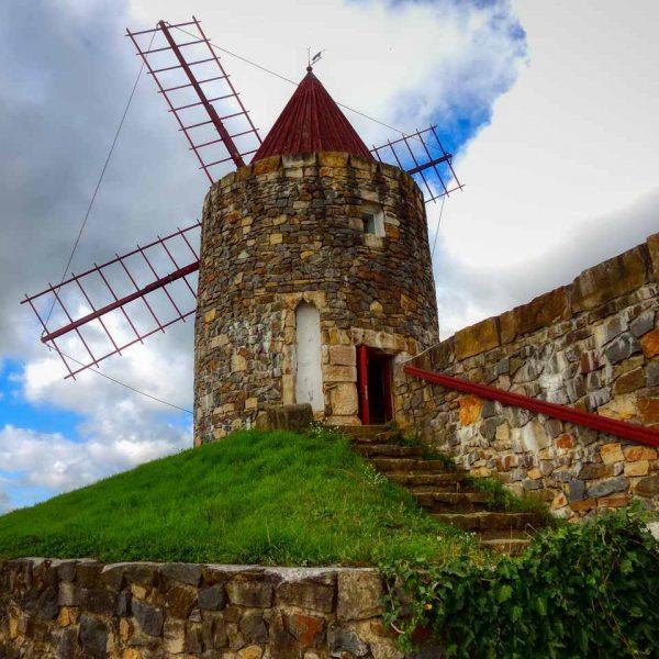 Mühle aus Fontvieille, Provence. (Die Mühle von Alphonse Daudet)